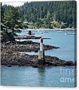 Beacon At Snug Cove Canvas Print