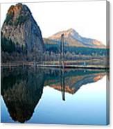 Beacon Rock Reflecions Canvas Print