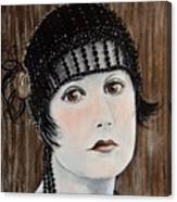 Beaded Flapper Hat Canvas Print