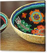 Beaded Indian Baskets Canvas Print