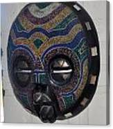 Handbeaded Mask Mexico Canvas Print