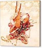 Beaded Reindeer Canvas Print