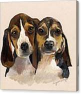 Beagle Babies Canvas Print