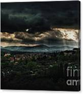 Beams Of Light Over Florence Canvas Print
