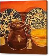 Beanpot Still Life Canvas Print