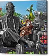 Bear And His Mentors Walt Disney World 03 Canvas Print