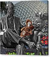 Bear And His Mentors Walt Disney World 04 Canvas Print