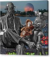 Bear And His Mentors Walt Disney World 05 Canvas Print
