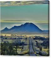 Bear Butte Surreal Canvas Print