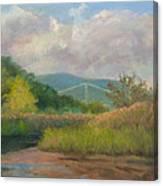 Bear Mountain Bridge From Iona Marsh Canvas Print