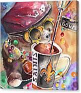 Bear On Bourbon Canvas Print