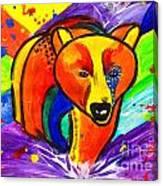 Bear Pop Art Canvas Print