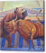 Bear Vs Bull Canvas Print