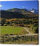 Beatiful Ranch Shot From The Highway Canvas Print