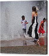 Beating The Heat Canvas Print