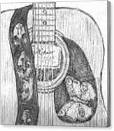 Beatles Guitar Canvas Print