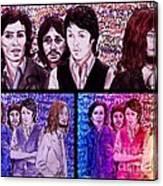 Rainbow Beatles Design Trio Canvas Print