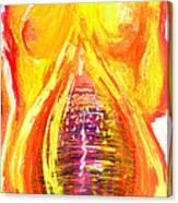 Beau Flambeau A Fire Girl Canvas Print