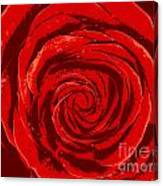 Beautiful Abstract Red Rose Illustration Canvas Print