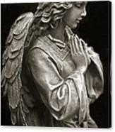 Beautiful Angel Praying Hands Christian Art Print Canvas Print