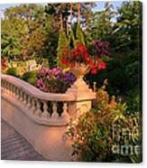 Beautiful Balustrade Fence In Halifax Public Gardens Canvas Print