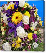 Beautiful Bouquet Of Flowers Canvas Print