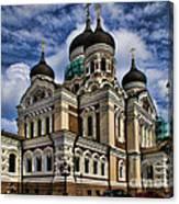 Beautiful Cathedral In Tallinn Estonia Canvas Print