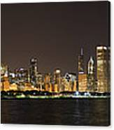 Beautiful Chicago Skyline With Fireworks Canvas Print