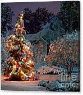 Beautiful Christmas Tree Lights Canvas Print