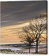 Beautiful Colorful Winter Sunset Canvas Print