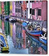 Beautiful Colors Of Burano Canvas Print