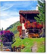 Beautiful Cottage Canvas Print