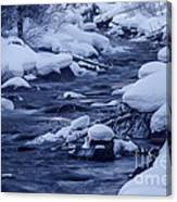 Beautiful Creek In Winter In Stanley Idaho Canvas Print