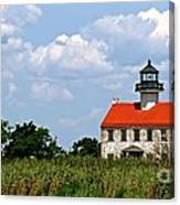 Beautiful Day At East Point Lighthouse  Canvas Print