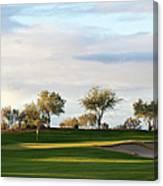 Beautiful Desert Golf Course Canvas Print