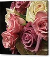 Beautiful Dramatic Roses Canvas Print