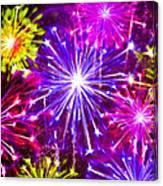Beautiful Fireworks  6 Canvas Print