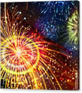 Beautiful Fireworks 8 Canvas Print