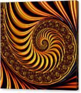 Beautiful Golden Fractal Spiral Artwork  Canvas Print