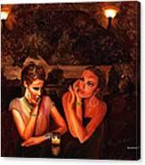 Beautiful Gossipers Canvas Print