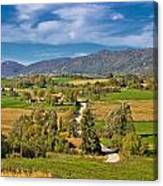 Beautiful Green Scenery Of Prigorje Region Canvas Print
