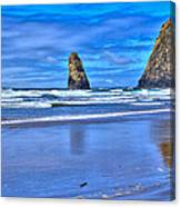 Beautiful Haystack Rock And The Needles Canvas Print