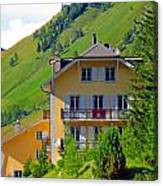 Beautiful House In Mont Blanc Canvas Print