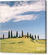 Beautiful House In Val D'orcia - Tuscany - Italy Canvas Print