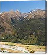 Beautiful Makarora Valley On South Island Of Nz Canvas Print