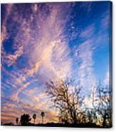Beautiful Morning Sunrise Clouds Across The Sky Canvas Print