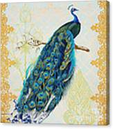 Beautiful Peacock-a Canvas Print