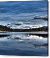Beautiful Rainy Lake Canvas Print