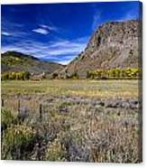 Beautiful Ranch In The Fall Canvas Print