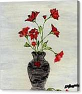 Beautiful Red Flowers Canvas Print